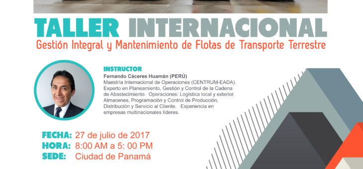 """TALLER INTERNACIONAL  """"GESTIÓN INTEGRAL Y MANTENIMIENTO DE FLOTAS DE TRANSPORTE TERRESTRE"""""""