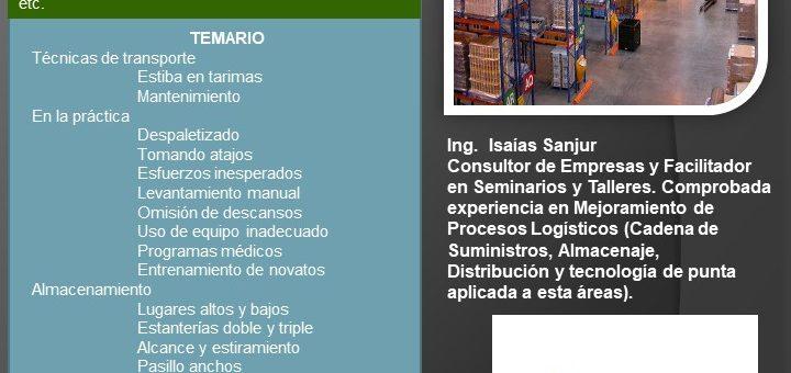 SEMINARIO – TALLER SEGURIDAD Y PREVENCIÓN DE RIESGOS EN BODEGAS Y ALMACENES