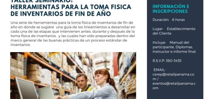 SEMINARIO IN COMPANY: HERRAMIENTAS PARA LA TOMA FÍSICA DE INVENTARIOS DE FIN DE AÑO